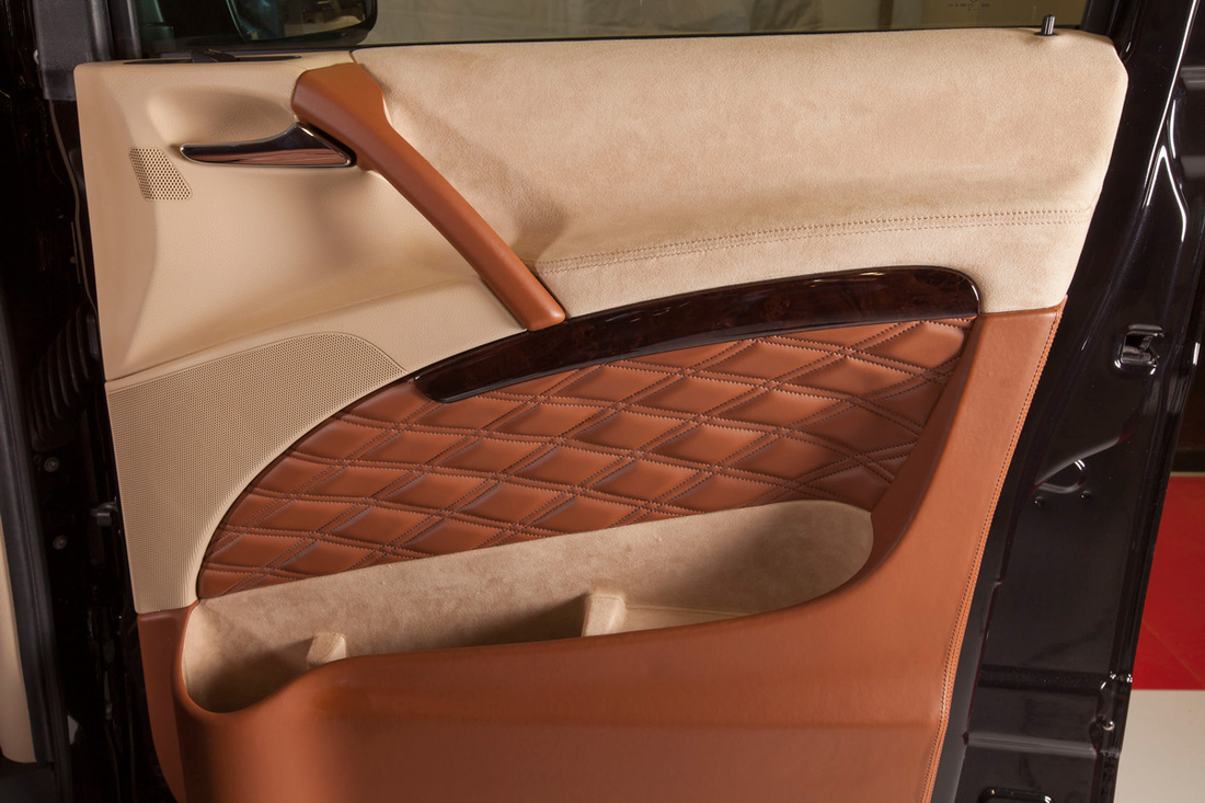 Upholstery of the driver door (left hand drive)
