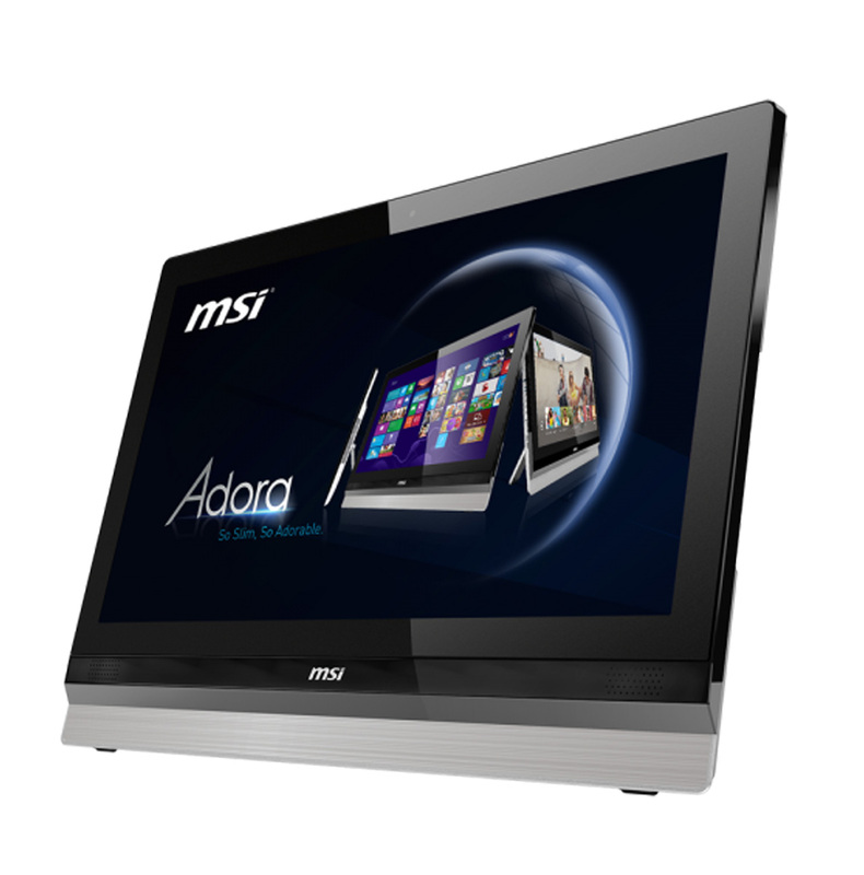 MSI All-in-One PC with pivot arm attached to the wall